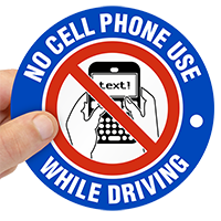 No Cellphone Use Label