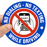 No Texting Label
