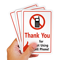 No Cell Phone Use Label