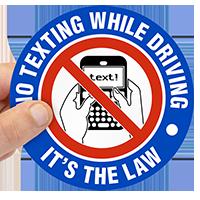 No Texting Label