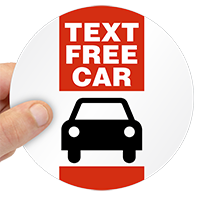 Text Free Car Label