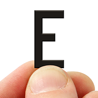 2 In. Tall Magnetic Letter E Black Die-Cut