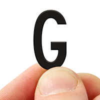 2 In. Tall Magnetic Letter G Black Die-Cut