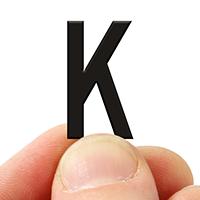 2 In. Tall Magnetic Letter K Black Die-Cut