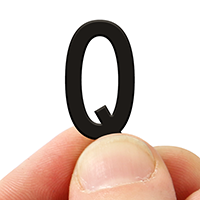 2 In. Tall Magnetic Letter Q Black Die-Cut
