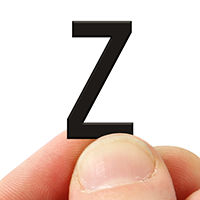 2 In. Tall Magnetic Letter Z Black Die-Cut