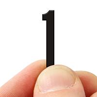 2 In. Tall Magnetic Number 1 Black Die-Cut