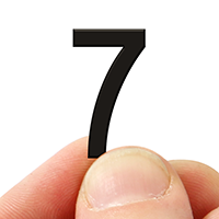 2 In. Tall Magnetic Number 7 Black Die-Cut