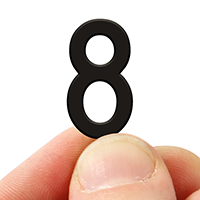 2 In. Tall Magnetic Number 8 Black Die-Cut