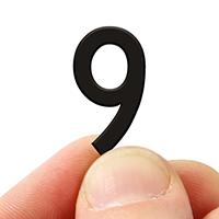 2 In. Tall Magnetic Number 9 Black Die-Cut