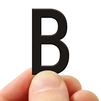 3 In. Tall Magnetic Letter B Black Die-Cut