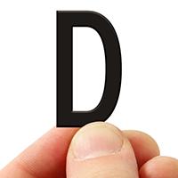3 In. Tall Magnetic Letter D Black Die-Cut