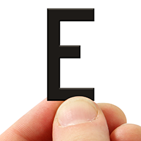 3 In. Tall Magnetic Letter E Black Die-Cut