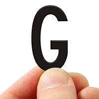 3 In. Tall Magnetic Letter G Black Die-Cut