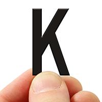 3 In. Tall Magnetic Letter K Black Die-Cut