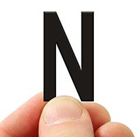 3 In. Tall Magnetic Letter N Black Die-Cut