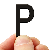 3 In. Tall Magnetic Letter P Black Die-Cut