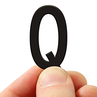 3 In. Tall Magnetic Letter Q Black Die-Cut
