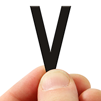 3 In. Tall Magnetic Letter V Black Die-Cut