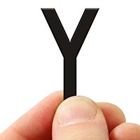 3 In. Tall Magnetic Letter Y Black Die-Cut