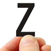 3 In. Tall Magnetic Letter Z Black Die-Cut