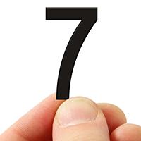 3 In. Tall Magnetic Number 7 Black Die-Cut