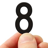 3 In. Tall Magnetic Number 8 Black Die-Cut