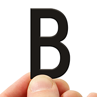 4 In. Tall Magnetic Letter B Black Die-Cut