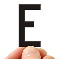 4 In. Tall Magnetic Letter E Black Die-Cut