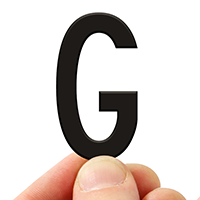 4 In. Tall Magnetic Letter G Black Die-Cut