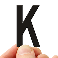 4 In. Tall Magnetic Letter K Black Die-Cut