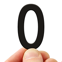 4 In. Tall Magnetic Letter O Black Die-Cut