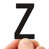 4 In. Tall Magnetic Letter Z Black Die-Cut