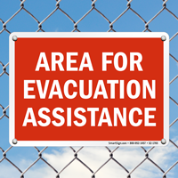 Evacuation Assistance Sign