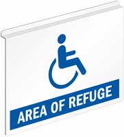Refuge Ceiling Sign