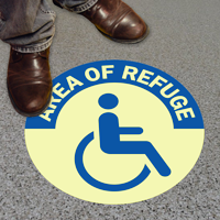 Rescue Assistance Accessible Symbol Left Arrow Sign