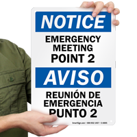 Emergency Meeting Point 2 Sign
