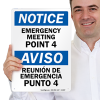 Emergency Meeting Point 4 Sign