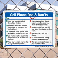 Cell Phone Use Rules Sign