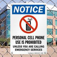 No Cell Phone with No Cell Phone Graphic Sign