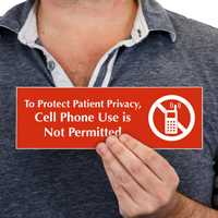 Protect Patient Privacy Engraved Sign
