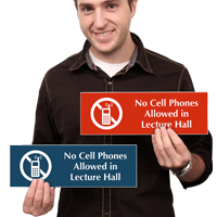 No Cell Phones In Lecture Hall Sign