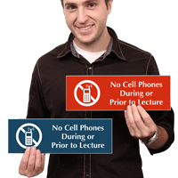 No Cell Phones During Lecture Sign