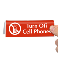 Turn Off Cell Phones with Graphic Sign