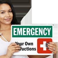 Custom OSHA Emergency Sign
