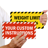 Customized Rectangle Shaped Sign