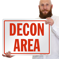 Decon Area Sign