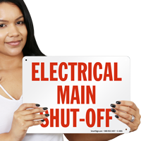 Electrical Main Shut-Off Emergency Sign