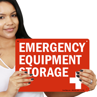 Emergency Equipment Storage First Aid Sign