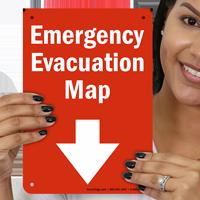 Emergency Evacuation Map Sign